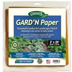 Garden Paper Mulch 2'x25', Mulches & Landscape Fabric