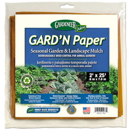 Garden Paper Mulch 2'x25', Mulches & Landscape Fabric image number null