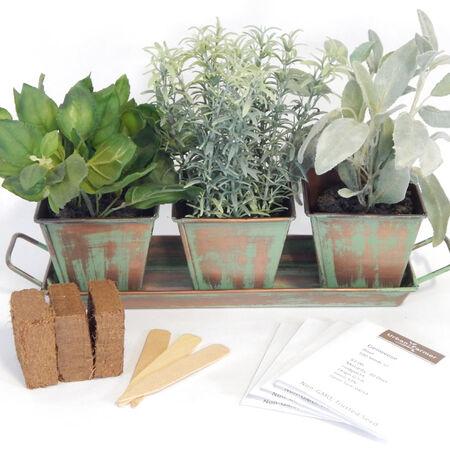 Metal Herb Kit (Square), Herb Kit - Verdigris Copper image number null