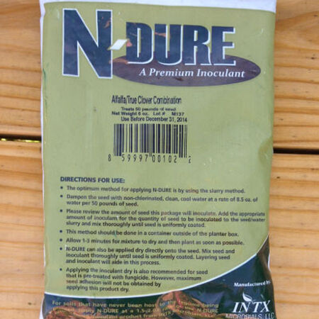 Alfalfa and Clover Inoculant, Garden Supplies - 6 Ounces (Treats 50 lbs.) image number null