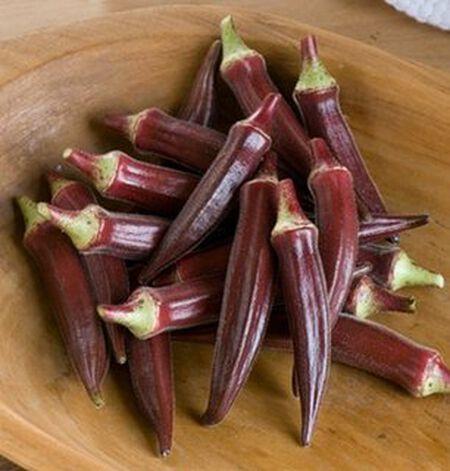 FRESH ORGANIC 2020 Okra Burgundy Red 25 Seeds Non Gmo Heirloom Vegetable Grown